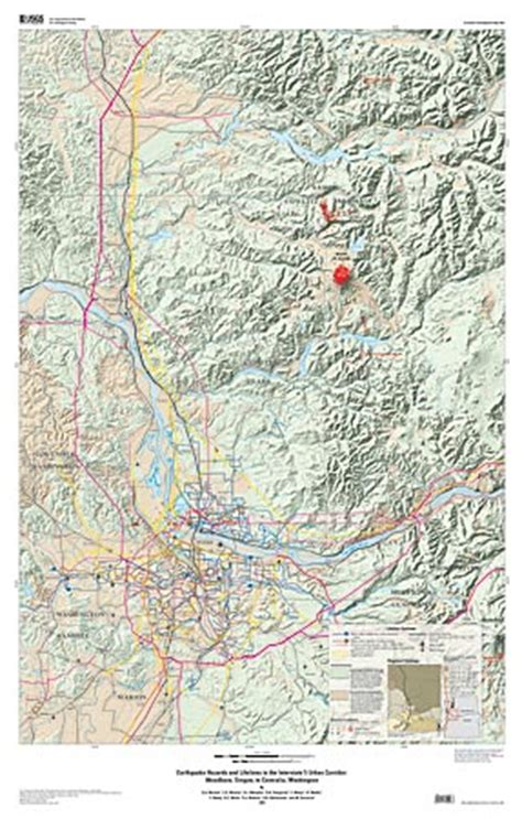map of oregon i 5 corridor earthquake hazards and lifelines in the interstate 5