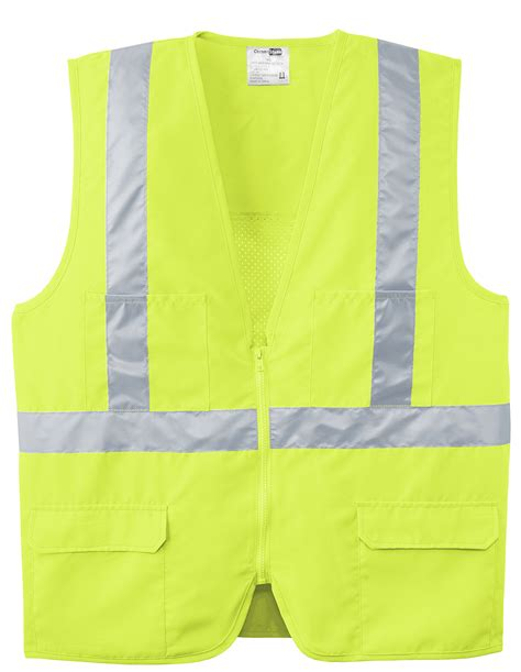 Dh 405 Mustard cornerstone 174 ansi 107 class 2 mesh back safety vest