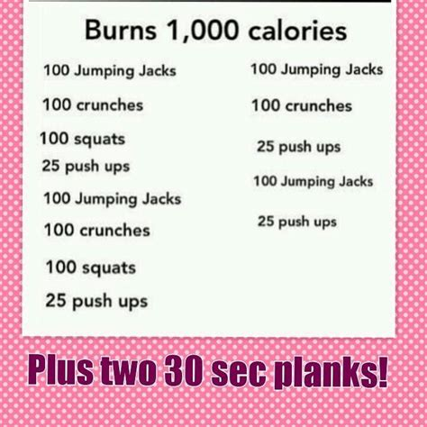 burn 1000 calories fitness motivation