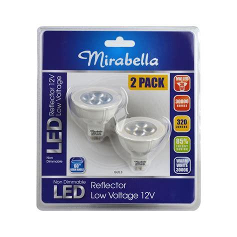 mirabella 5w 12v gu5 3 led globe 2 pack i n 4331038