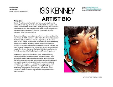 pin artist biography template sle musician bios music