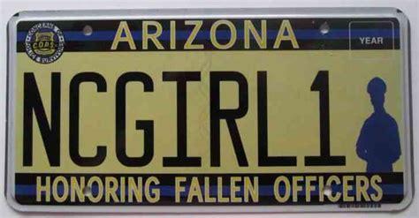 arizona 2012 honoring fallen officers graphic vanity