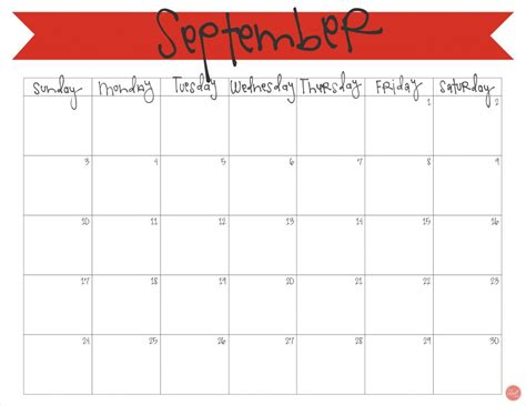 printable calendar template september 2017 september 2017 calendar free printable live craft eat