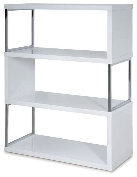 Modern High Gloss Lacquer Bookshelf Modern Bookcases White High Gloss Bookcase