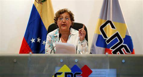 imagenes cne venezuela presidenta del consejo electoral venezolano recibe