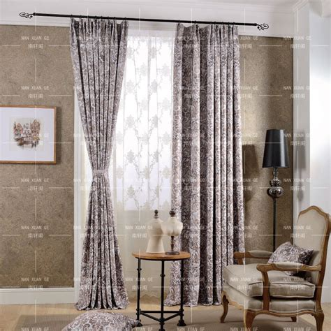 how long should bedroom curtains be brown floral print polyester insulated long curtains for