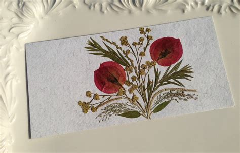 Handmade Cards With Flowers - bouganvilla handmade pressed flowers card on luulla