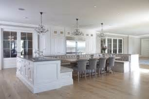 Kitchen Island With Built In Seating Kitchen Island With Upholstered Bench Seating Design Decor Photos Pictures Ideas