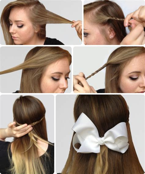hairstyles for school bow step by step hair tutorials for moms and daughters
