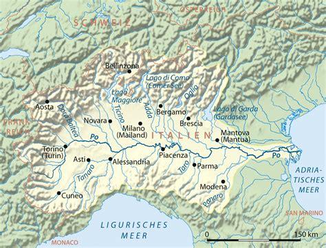 po river map po fluss