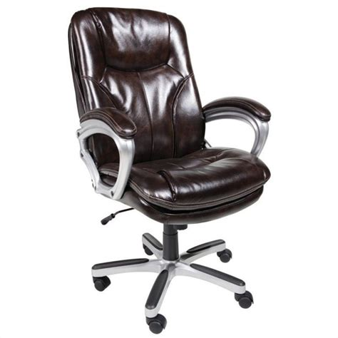 Office Chairs Brown Office Chair In Puresoft Brown Faux Leather 43502