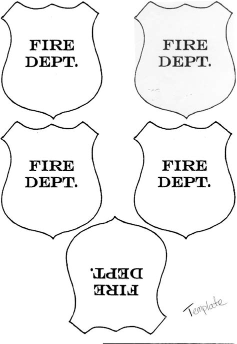 firefighter hat template printable invitation templates