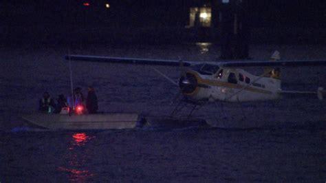 boat landing ctv float plane makes emergency landing off point grey ctv