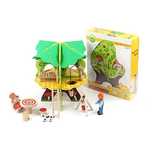 baby wooden 3d tree doll house puzzle children s birthday