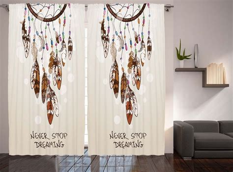 native american curtains native american decor dreaming feathers and beads for luck