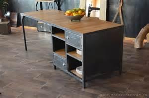 206 lot central de cuisine sur mesure en bois et acier
