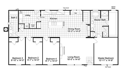view malibu floor plan for a 1800 sq ft palm harbor view the kensington 4 floor plan for a 1800 sq ft palm