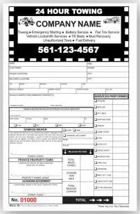 Towing Company Receipt Template Best Photos Of Towing Invoice Template Printable Towing