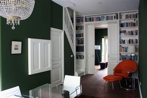 dark green walls love the dark green wall color