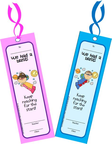Printable Bookmarks For Kindergarten | free printable end of school year bookmarks for your