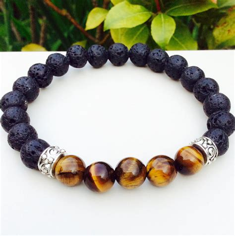 mens lava bracelets mens bracelet lava and tiger eye bracelet gifts for