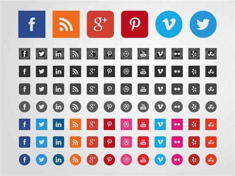 free sosial network icon social websites icons vector art graphics freevector com