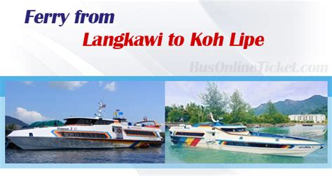 speed boat langkawi to koh lipe ferry from langkawi to koh lipe from rm 110 00