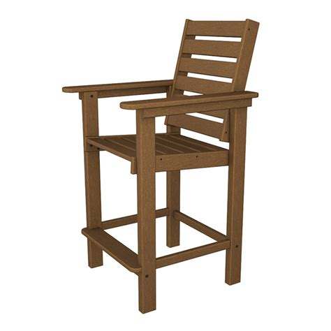 Counter Height Arm Chair by Outdoor Counter Height Arm Chair Polywood Weatherproof
