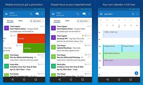 email app for android microsoft releases its outlook email app for ios and android