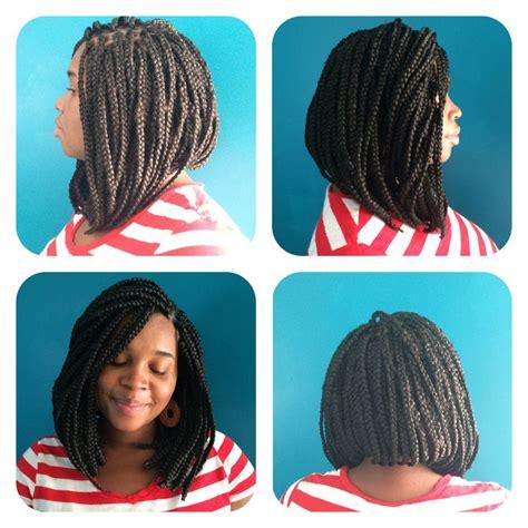 yarn bob boxbraids new do short long bob cut style box braids on black