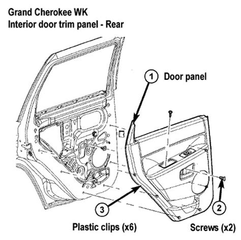how to pull off inner panel rear door 2013 rolls royce phantom jeep grand cherokee wk interior trim removal