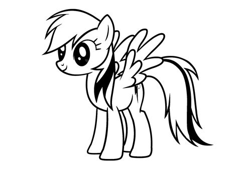 My Little Pony Rainbow Dash coloring pages for kids