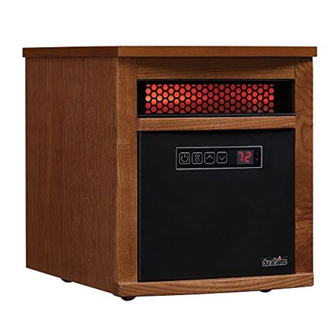 duraflame 5200 btu infrared cabinet electric space heater compare price to duraflame infrared space heaters