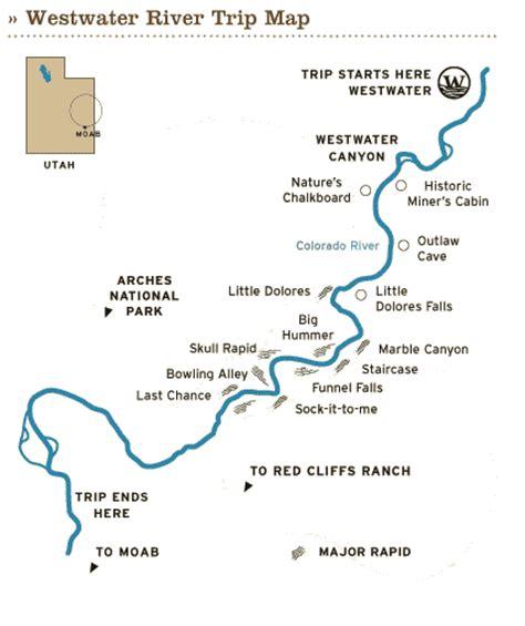 colorado river grand map utah rafting 187 colorado river rafting 187 westwater
