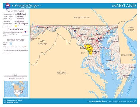 maryland map detailed large detailed map of maryland state maryland state large