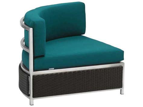 Corner Lounge Chair by Tropitone Cabana Club Woven Curved Corner Lounge Chair