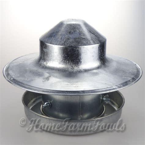 Metal Feeder 2 5kg Galvanised Metal Poultry Feeder With Hat Home