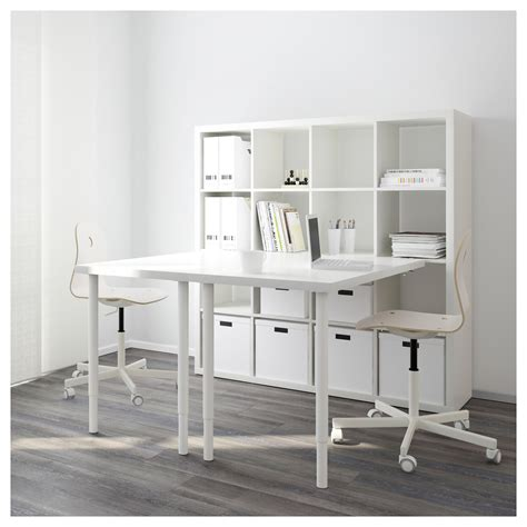 kallax bureau kallax combinaison bureau blanc 147x147 cm ikea
