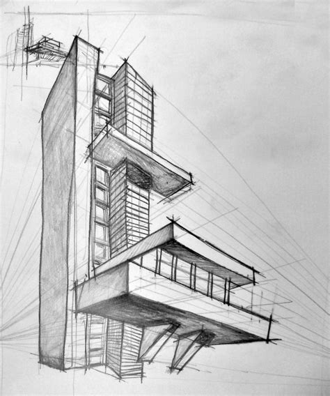 falling water perspective proportions are all messed up because of the vanishing points being