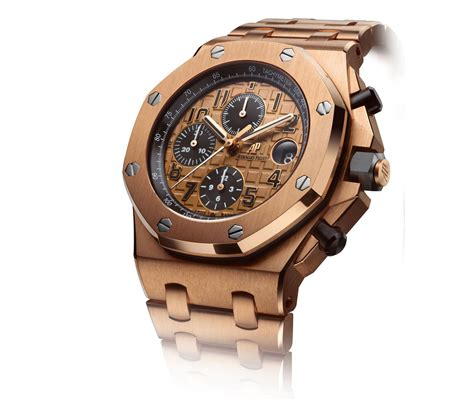 royal oak offshore chronograph in pink gold audemars