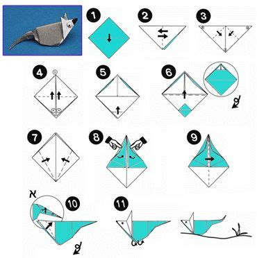 Easy Origami Mouse - 17 best images about origami animals mouse on