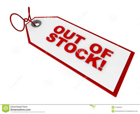 out of stock tag stock illustration image 47280229