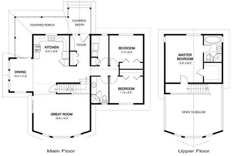 open concept cottage floor plans house plans brockton 2 linwood custom homes