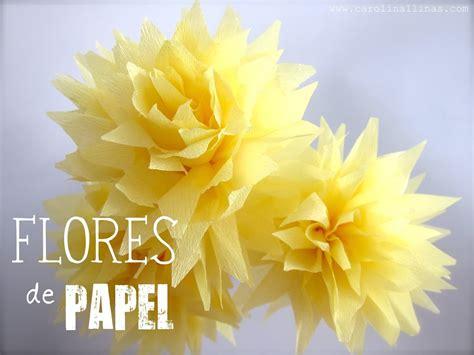 flores de crepe sencillas flores de papel crep 233 artividades