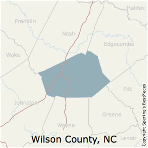 wilson carolina map best places to live in wilson county carolina