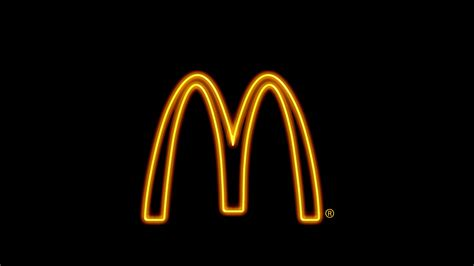 mcdonald s background fast food sign neon simple background mcdonald s