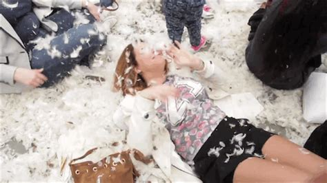 Feather Pillow Fight by No Mercy Thirty Feathery Photos And Gifs From London S