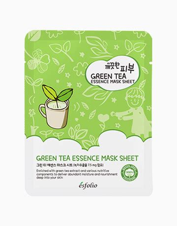 Green Tea Detox Purifying Sheet Mask by Green Tea Essence Mask Sheet By Esfolio Products Beautymnl