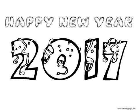 2017 year color new years eve coloring pages 2017 year 2016 black and