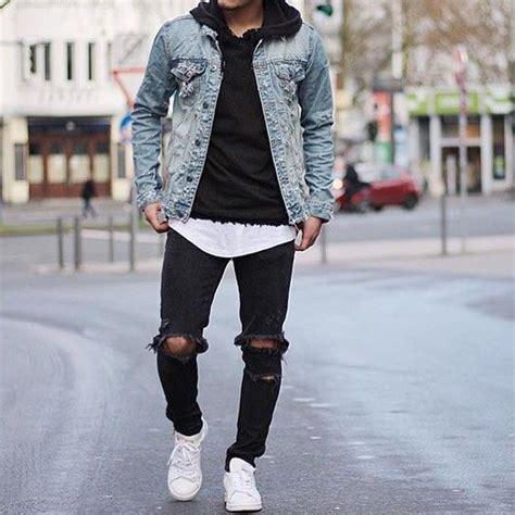 Jaket Hoodie Chelsea C 531 Sweater Jumper Bola Bukan J Murah s light blue denim jacket black hoodie white crew neck t shirt black ripped black